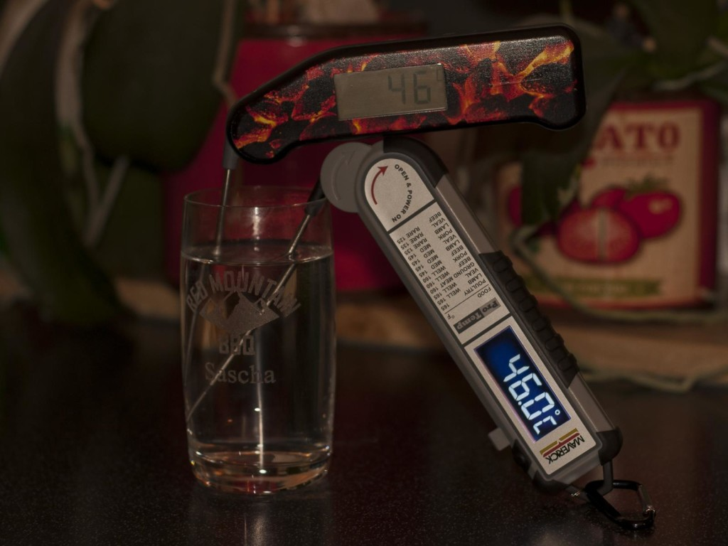 Redmountain BBQ Thermapen versus Maverick PT 100